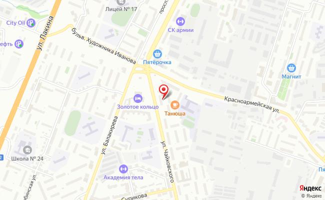 Карта расположения пункта доставки Гешефт в городе Владимир