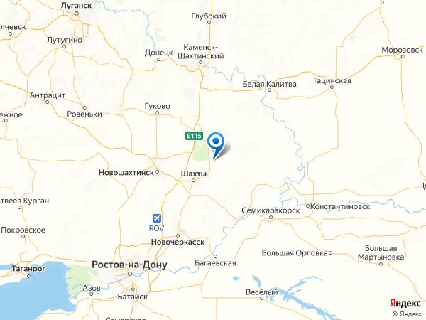 хутор Почтовый на карте