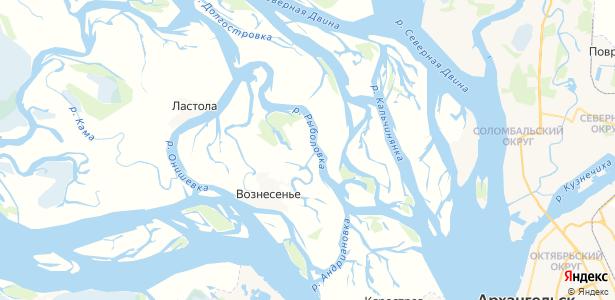 Верхнее Рыболово на карте