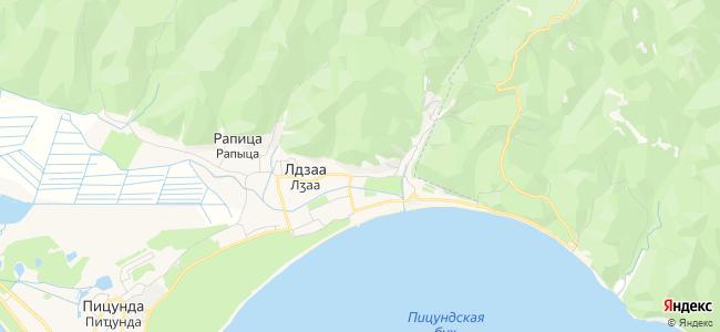 Гостевые дома Лдзаа - объекты на карте