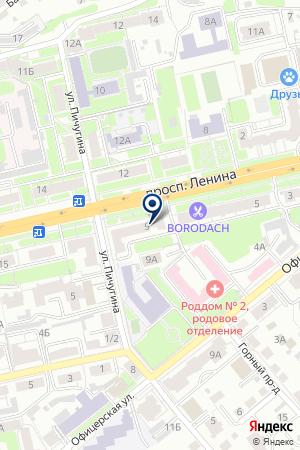 ФИЛИАЛ ВЛАДИМИРСКИЙ АКБ МОСКОМПРИВАТБАНК на карте Владимира