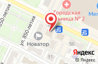 Схема проезда до компании Адмирал во Владимире