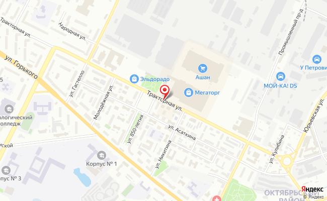Карта расположения пункта доставки Ростелеком в городе Владимир