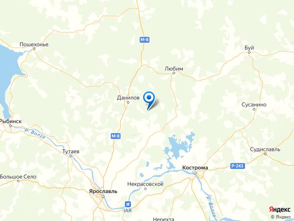 поселок Богородское на карте