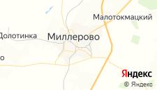 Гостиницы города Миллерово на карте