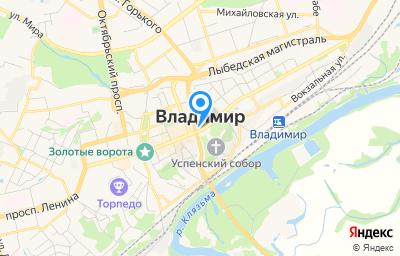 Местоположение на карте пункта техосмотра по адресу г Владимир, ул Посёлок РТС, д 30