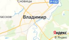 Гостиницы города Владимир на карте