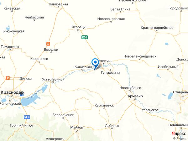поселок Кубань на карте