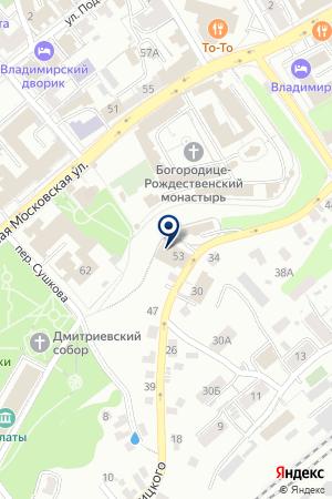 Бюро ритуальных услуг на карте Владимира