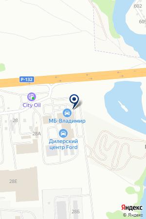 СКЛАДСКОЙ КОМПЛЕКС ВЛАДИМИРМЕТАЛЛОПТТОРГ на карте Владимира
