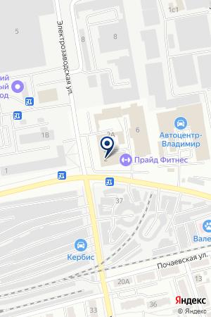 ФИЛИАЛ ВЛАДИМИРСКИЙ АКБ РЕСПУБЛИКАНСКИЙ БАНК на карте Владимира