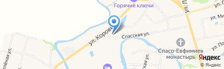 Церковь Космы и Дамиана на карте Суздаля