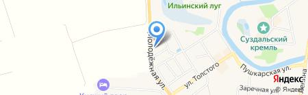 Павловское подворье на карте Суздаля