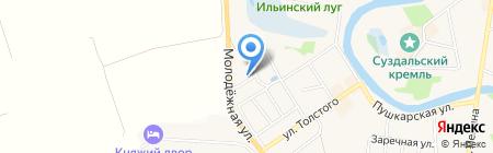 Русская усадьба на карте Суздаля