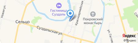 Подворье ямщика на карте Суздаля