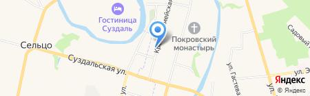 Захаровых на карте Суздаля
