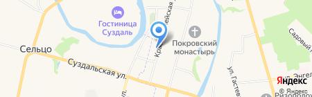 Алексеевский дом на карте Суздаля