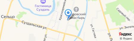 Покровская усадьба на карте Суздаля