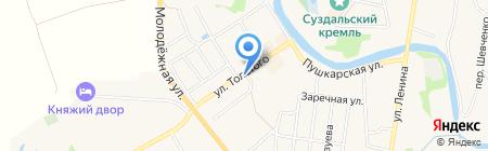 Дом торговцев Семеновых на карте Суздаля