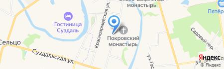 Трактир у Прокопа на карте Суздаля