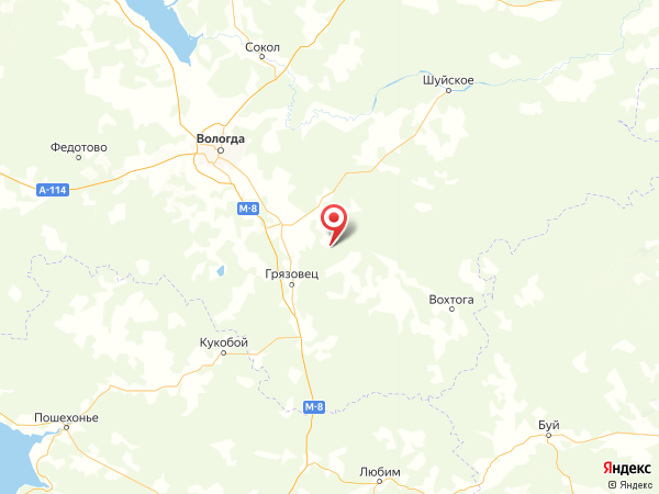 деревня Суворово на карте