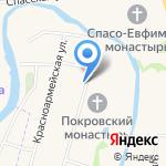 С русской баней на карте Суздаля