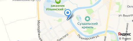 Река времени на карте Суздаля