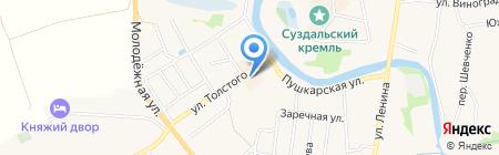 Кремлевский на карте Суздаля