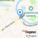 Дом лудильщика Фирсова на карте Суздаля