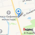Смоленская церковь на карте Суздаля