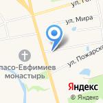 У монастыря на карте Суздаля