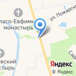 Русский сувенир на карте Суздаля