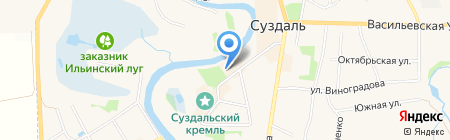 Русская ресторация на карте Суздаля