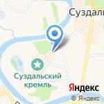 На Кремлевской на карте Суздаля
