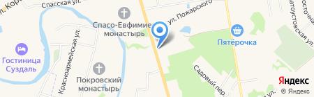 Best Western Art Hotel Николаевский посад на карте Суздаля