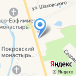 Николаевский посад на карте Суздаля