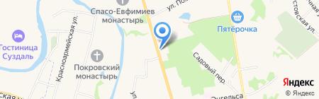 Винная лавка на карте Суздаля