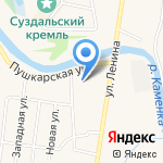 Пушкарская слобода на карте Суздаля