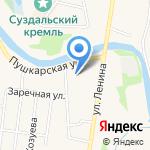 Банкомат на карте Суздаля