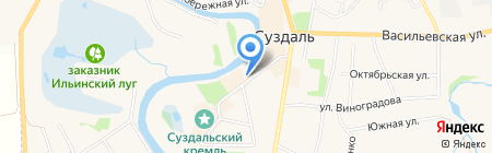 Успенская церковь на карте Суздаля