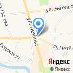 Лавка купца Денисова на карте Суздаля