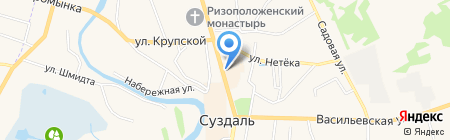 Фотоателье на проспекте Ленина на карте Суздаля