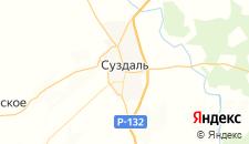 Гостиницы города Суздаль на карте