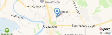 Скорбященская церковь на карте Суздаля