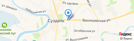 Ризоположенская община на Васильевской на карте Суздаля