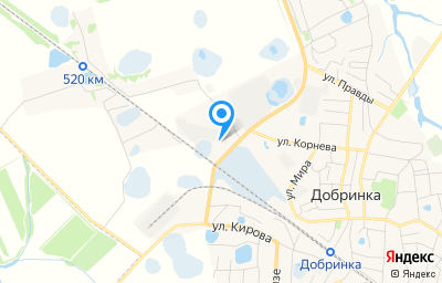 Местоположение на карте пункта техосмотра по адресу Липецкая обл, п Добринка, ул Строительная, д 1А