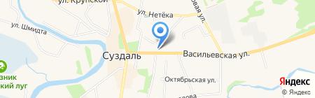 Суздальская православная гимназия на карте Суздаля