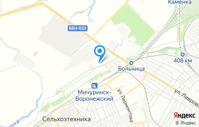 Местоположение на карте пункта техосмотра по адресу Тамбовская обл, Мичуринский р-н