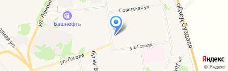 Волго-Вятский банк Сбербанка России на карте Суздаля