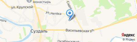 У Романова на карте Суздаля